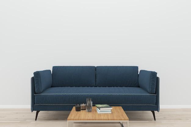 Pleasing Dark Blue Sofa White Wall Old Wooden Floor Wood Table Evergreenethics Interior Chair Design Evergreenethicsorg