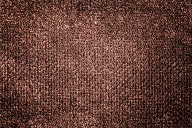 Dark brown background from soft textile material Premium Photo