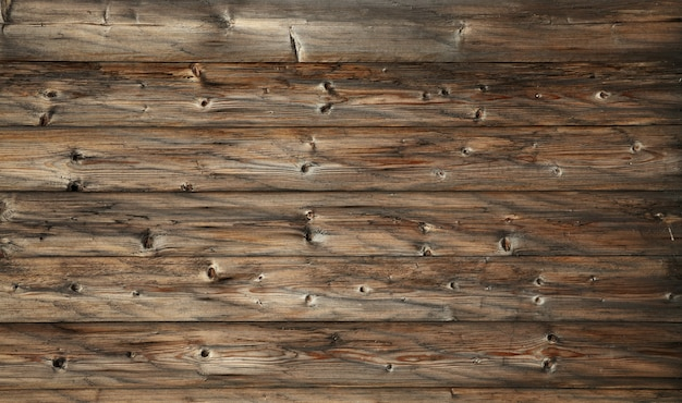 Dark brown old vintage wooden planks background Premium Photo
