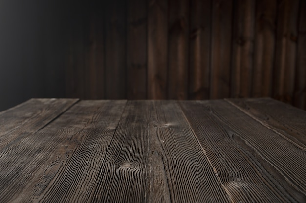 Dark brown wood table Free Photo