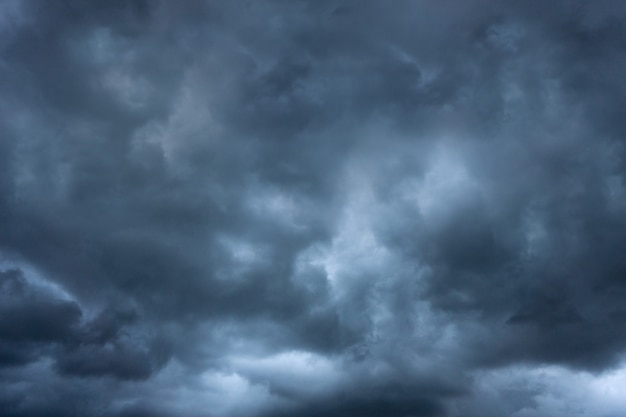 Dark cloud storm in summer before tornado is coming and bad weather Premium Photo