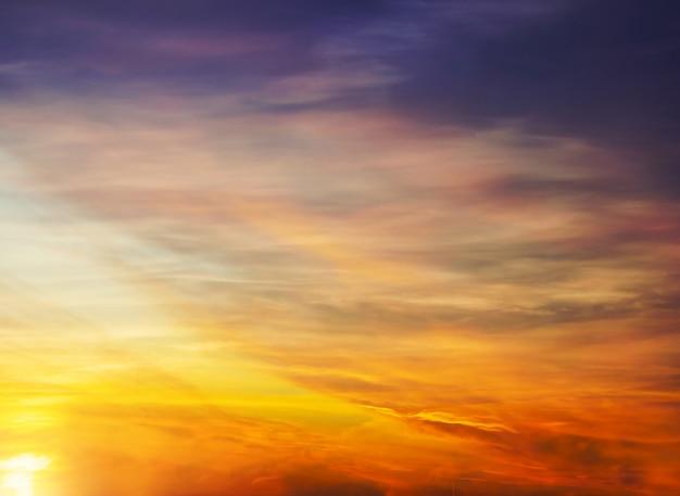 Dark  cloud with light sky and  light midnight evening time Premium Photo