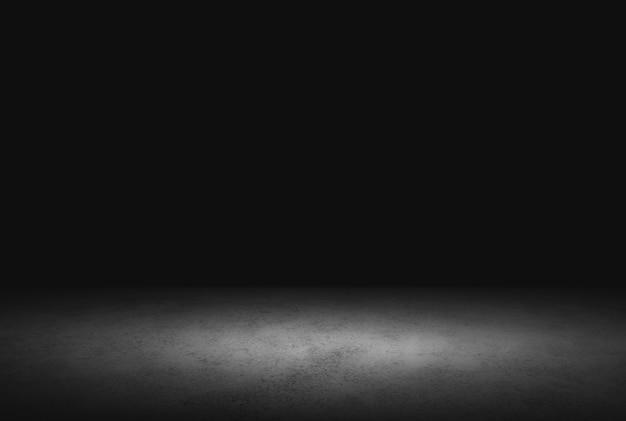Темный пол фон черный пустое пространство для отображения вашей продукции, черный бетон поверхность земли текстура. Premium Фотографии
