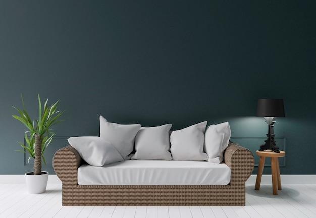 Fine Dark Green Modern Living Room With Summer Sofa Lamp And Creativecarmelina Interior Chair Design Creativecarmelinacom