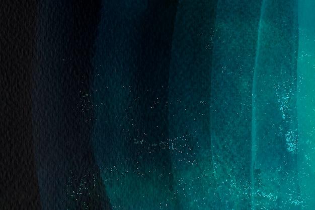 濃い緑色の水彩ブラシストローク 無料写真