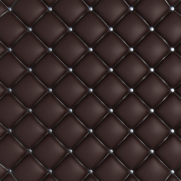 Dark quilted texture Free Photo