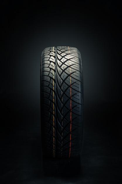 Dark rubber tire Premium Photo