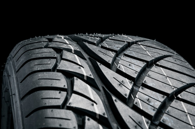 Dark rubber tire Premium Photo