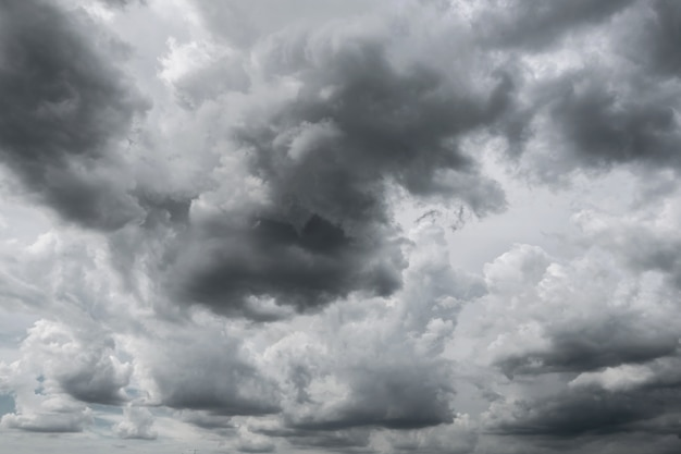 Dark storm clouds before rain used for climate background. Premium Photo