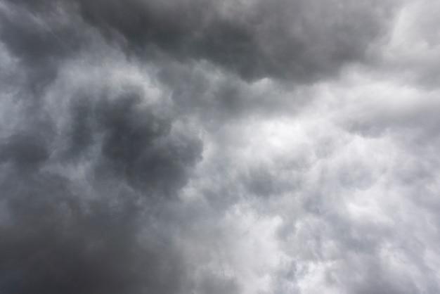 Dark stormy clouds before rain, dark sky and clouds Premium Photo