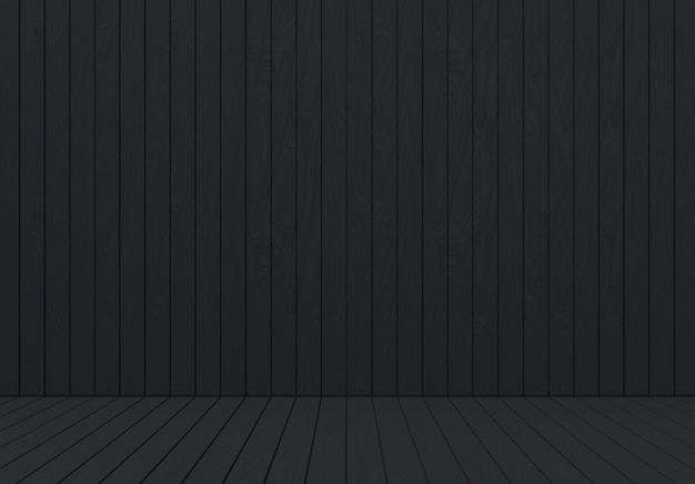 Dark Wood Panel Wall And Floor Background Premium Photo