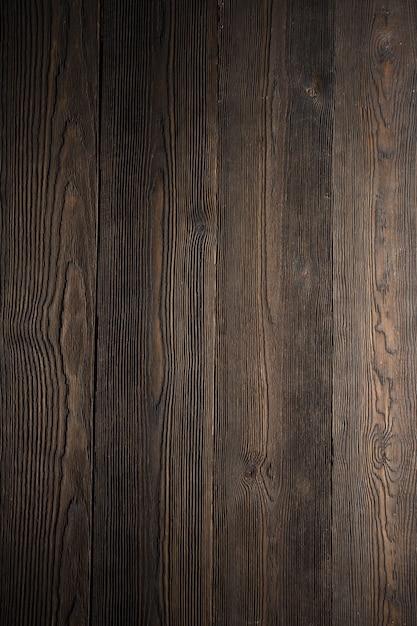 Dark wood table in vertical Free Photo