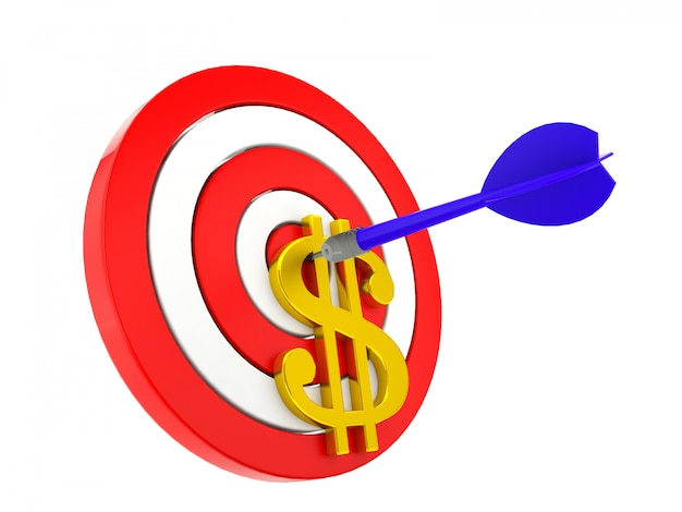 Dart targeting on money, business and financial concept Premium Photo