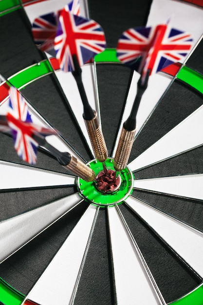 Dartboard business success concept Premium Photo