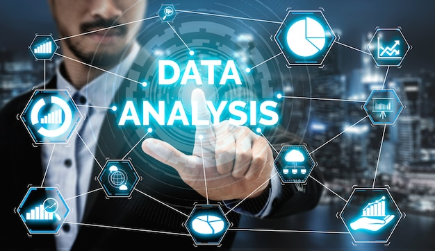 Data analysis for business and finance concept Premium Photo