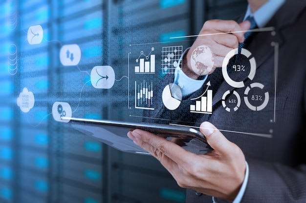 Система управления данными (dms) с концепцией бизнес-аналитики. Premium Фотографии
