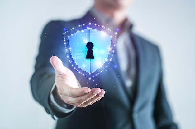 Data protection and network security Premium Photo