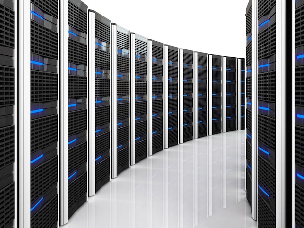 Датацентр с большим количеством серверов Premium Фотографии