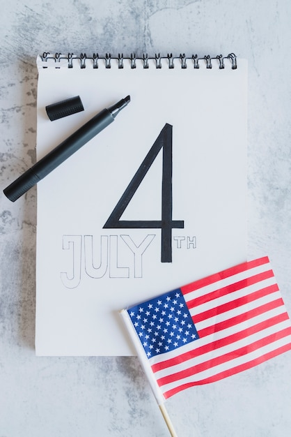 Date of american independence day Free Photo