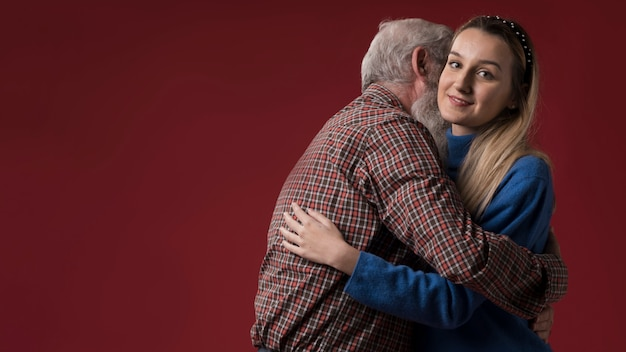 Daughter and father on fathers day Free Photo