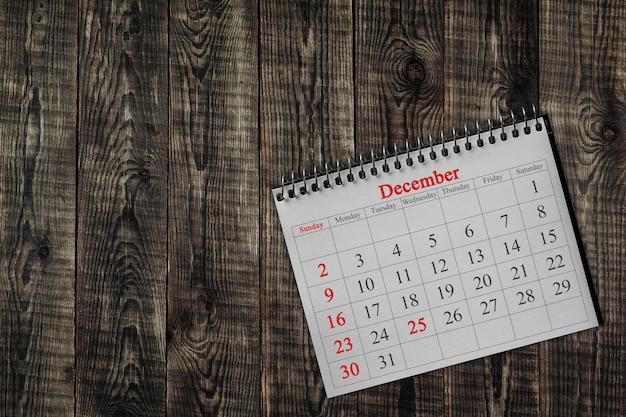 December 25 in the calendar Premium Photo