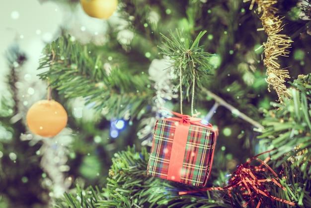 Decorated Christmas Tree Close-up Photo