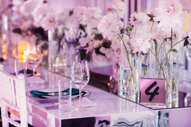 Decorated seatings for wedding guests Free Photo