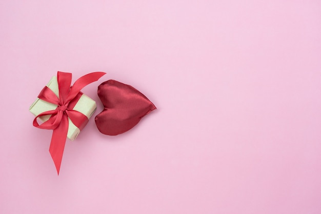 Decoration valentine's day background. Premium Photo