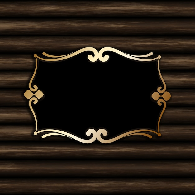 Decorative blank frame on an old wood background Free Photo