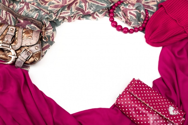 Decorative draping frame of the textile Premium Photo