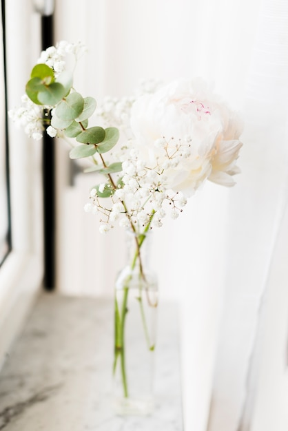 Decorative flowers in a vase Free Photo