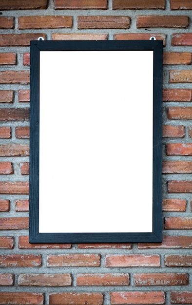 Faux Picture Frames On Walls : Decorative frame on brick wall photo free download