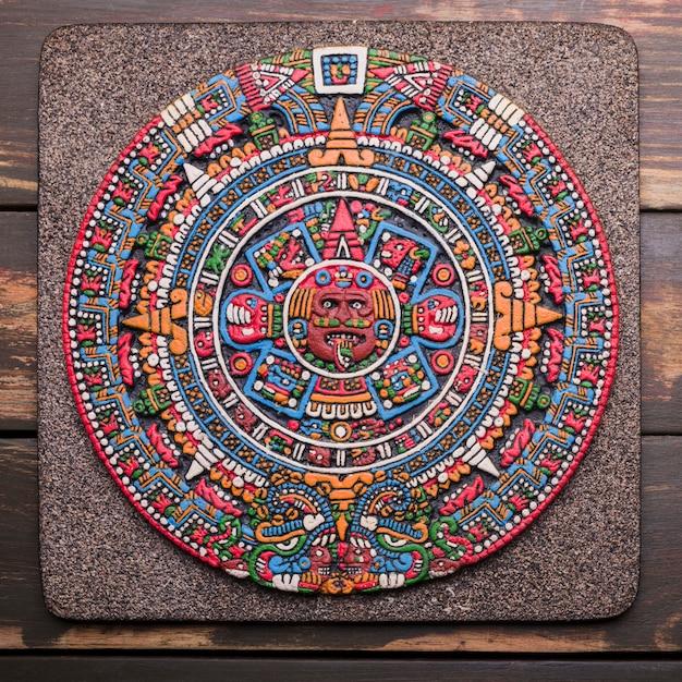 Decorative mexican symbol on board Free Photo