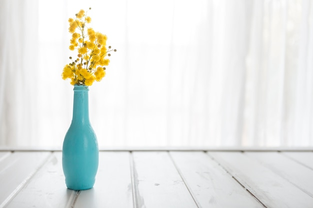 Decorative Vase With Yellow Flowers Photo Free Download