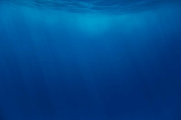 Deep blue sea underwater background Premium Photo