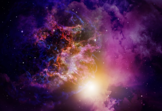 Deep space nebula with stars background Premium Photo
