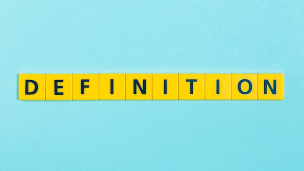 Definition word on scrabble tiles Free Photo