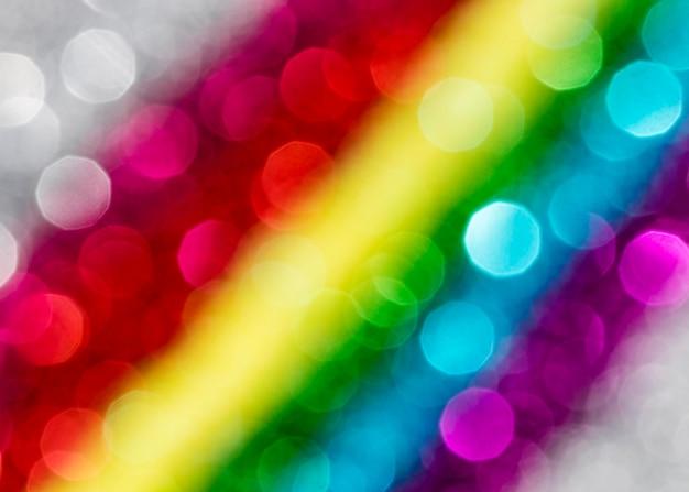 Scintillio sfocato dell'arcobaleno abbagliante Foto Gratuite