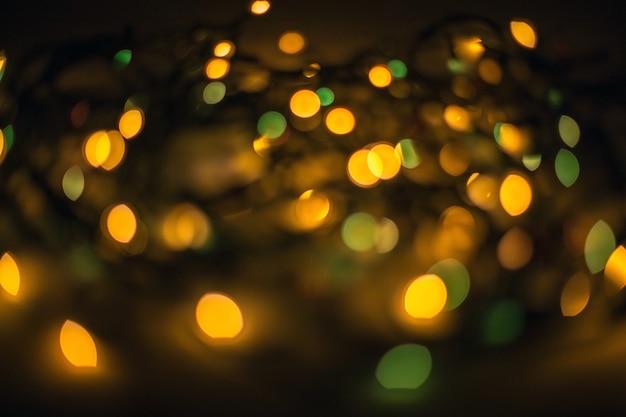 Эффект расфокусированных огней боке в ночном городе Бесплатные Фотографии