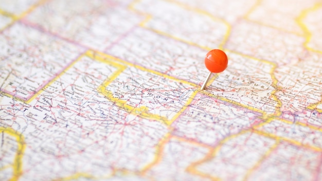 Defocused complex map with pinpoint Photo | Free Download