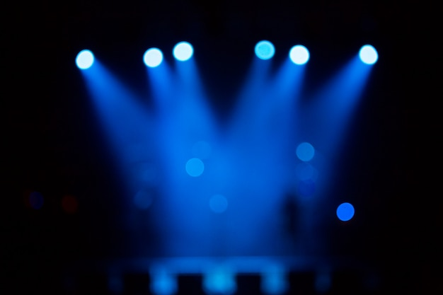 Defocused entertainment concert lighting on stage Premium Photo