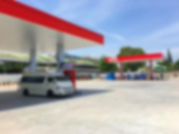 Defocused fuel station Free Photo