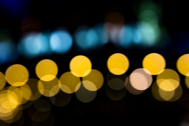 Defocused real bokeh for abstract background Free Photo