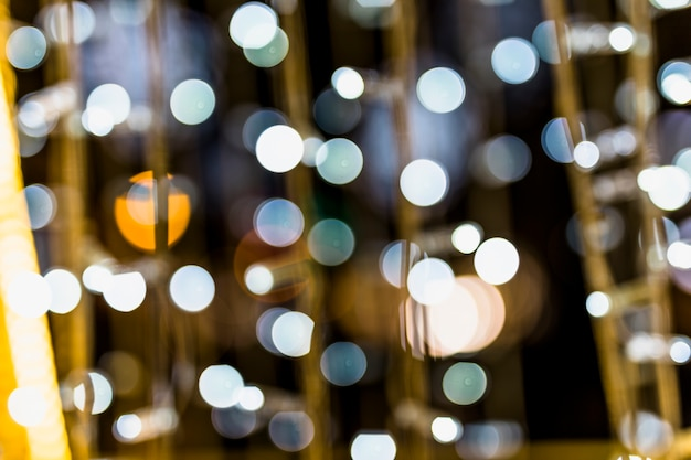 Defocused scattered bokeh dots background Free Photo