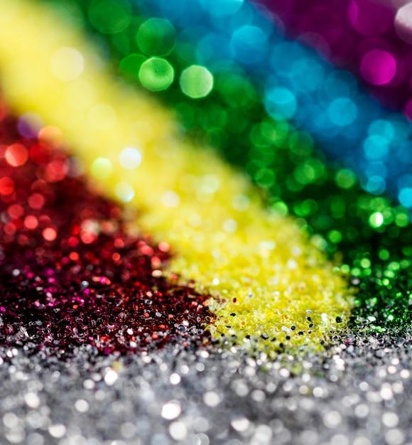 Scintillio scintillante sfocato dell'arcobaleno Foto Gratuite