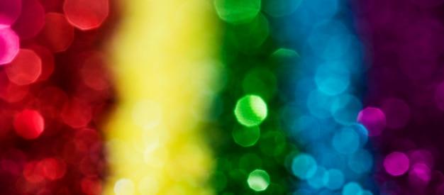Glitter arcobaleno lucido sfocato Foto Gratuite