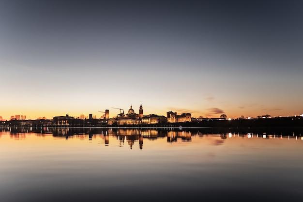 A deliberately overexposed panoramic photography of mantova Premium Photo