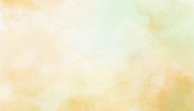 Delicate yellow abstract watercolor background Premium Photo