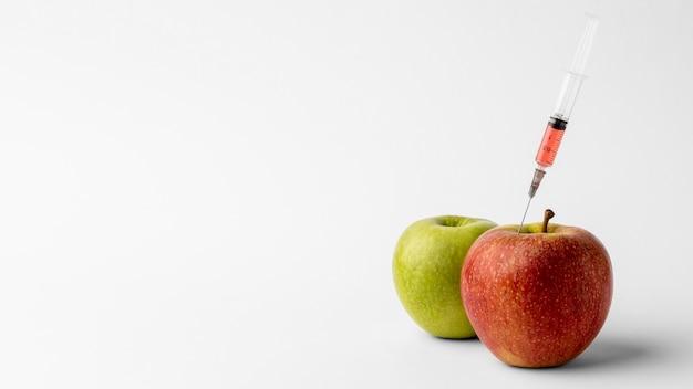 おいしいリンゴの遺伝子組み換え食品 無料写真