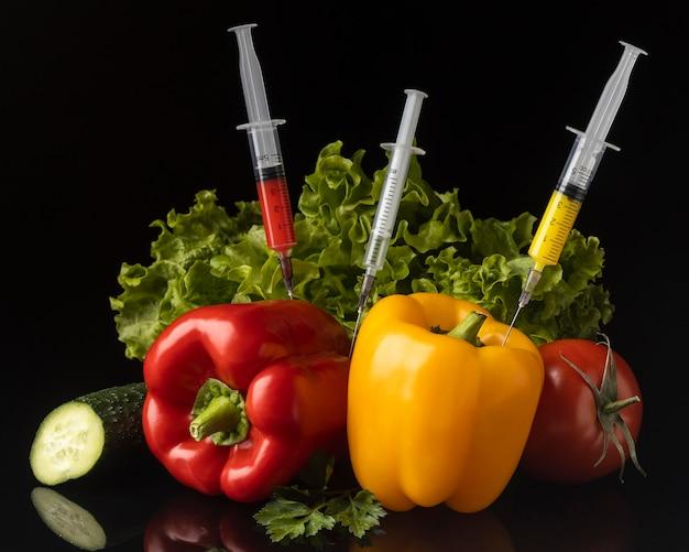 遺伝子組み換え食品のおいしいアレンジメント 無料写真
